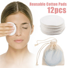Cloth Makeup-Remover Puff-Pads Facial-Skin-Care Bamboo Round Washable Clean Cotton