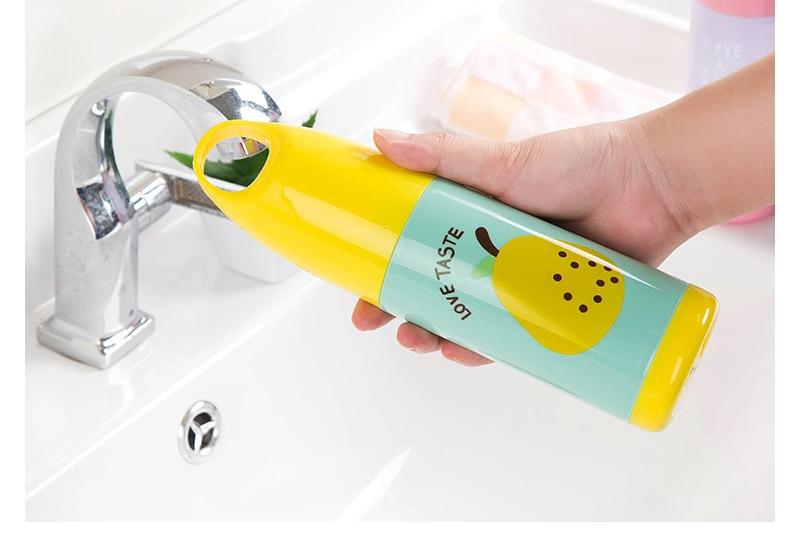 Дорожная зубная щетка чашка для зубной пасты ящики для хранения мыть милый фруктовый узор домашняя ванная комната организация портативный органайзер с крышкой