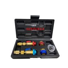 Nowy model szybki demontaż i instalacja rdzenia zaworu klimatyzatora bez wycieku czynnika chłodniczego dla R134A i R1234YF tanie tanio NEKPOKKA CN (pochodzenie) copper Klimatyzacja montaż 0 8kg disassembly tools T0866 Iso9001 25cm 16cm