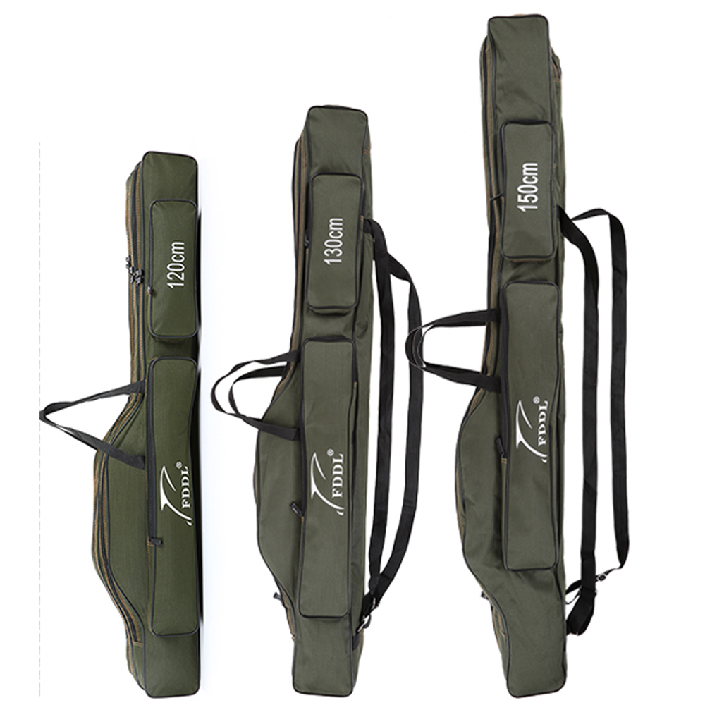 FDDL Portable Folding Fishing Bags Rod Carrier Canvas Fishing Pole Tools Storage Bag Case Fishing Gear Tackle 120/130/ 150cm