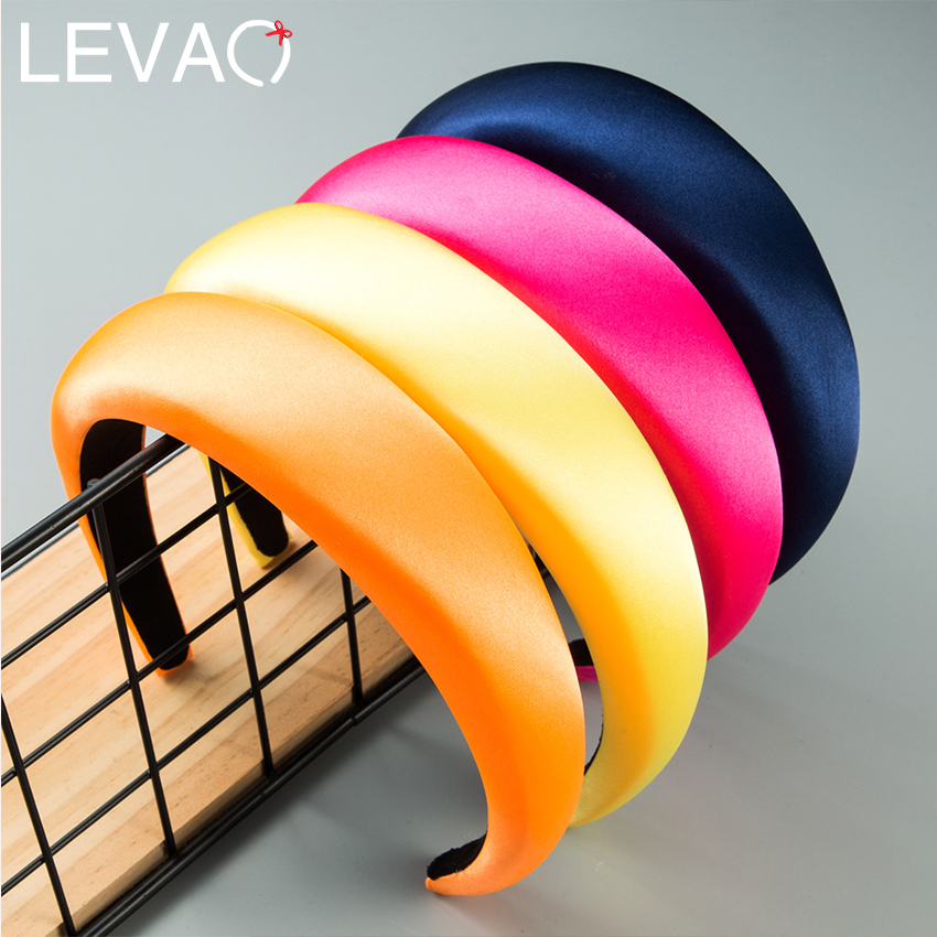Levao Hair Accessories For Women Wide Knotted Hairband Satin Twist Headband Hair Hoop Band Turban Headbands  Girls Headwear