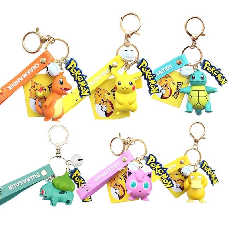 Original Pokemon Pikachu Figures Fashion Cartoon Keychain Pendant Pokémon Anime Decorations Model Toys Dolls Child Birthday Gift
