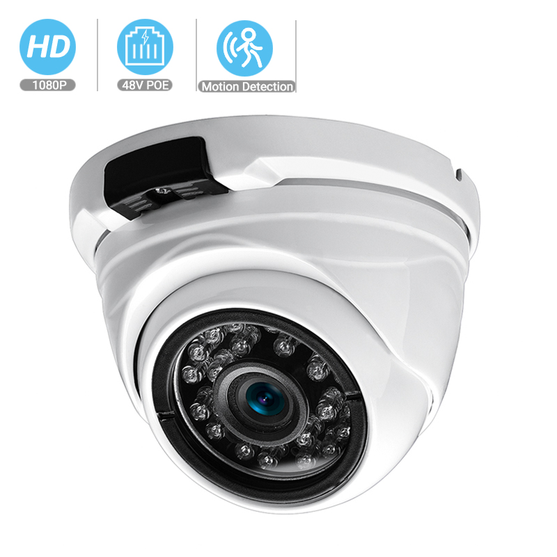 BESDER Wide Angle 2.8mm 720P 960P 1080P PoE CCTV Dome Camera  Indoor Outdoor Vandalproof ONVIF Infrared Metal Case IP Camera