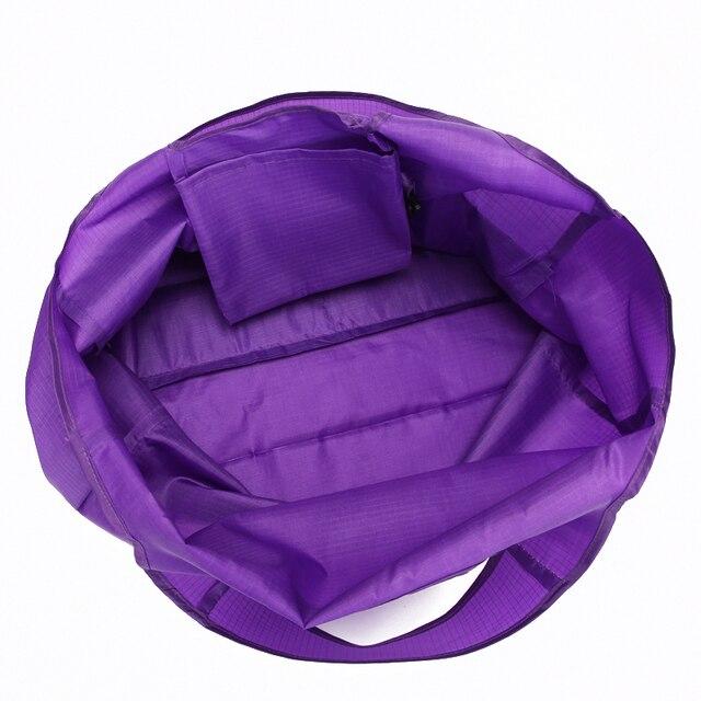 Green Reusable Shopping Bags Women Foldable Tote Bag Portable Cloth Eco Grocery Bag Folding Large Capacity Handbags 3
