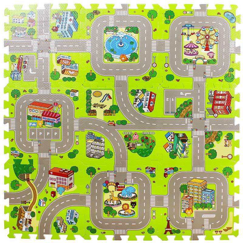 Городской дорожный детский коврик из пеноматериала EVA, коврик для ползания, коврик для автомобиля, игровой коврик для малышей, гоночные игры...