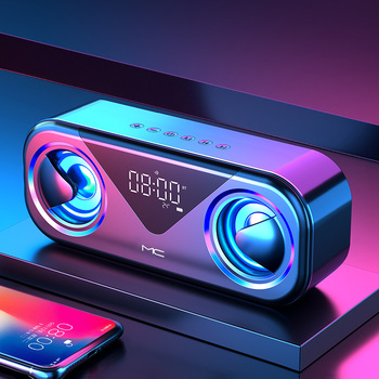 Wireless Bluetooth Speaker Portable Column 10W Subwoofer Sound Bar Support FM Radio AUX TF USB Music Center for Computer 2.1 LED 10w portable column bluetooth speaker touch control wireless bass speaker with mic fm radio tf card u disk aux for iphone pc
