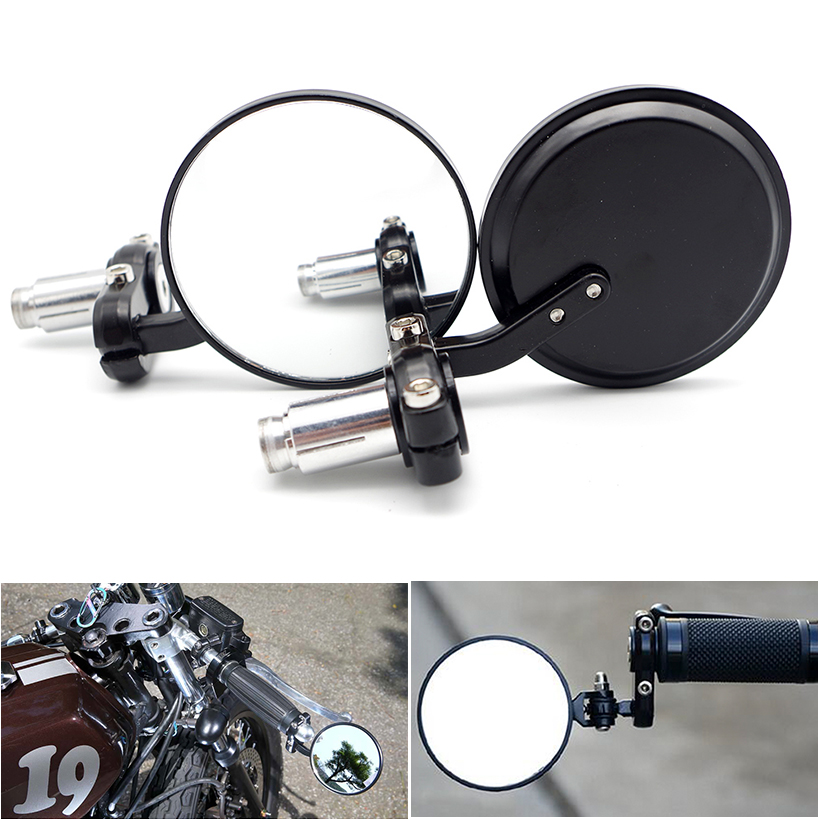 Motorcycle Rearview Mirror CNC ALL Aluminum Case for honda pcx 125 tmax 530 transalp 650 <font><b>yamaha</b></font> <font><b>dt</b></font> <font><b>50</b></font> bmw k100 moto accessories image
