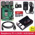 Framboise Pi 4 modèle B 1G 2G 4G RAM 4 cœurs 2.4G & 5G WiFi Bluetooth 5.0 4K Micro HDMI RPI 4B mieux que framboise Pi 3 3B Plus