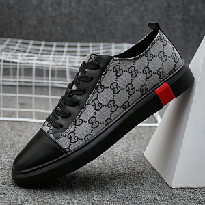 High quality brand designer men's shoes leather casual shoes men's leather shoes black fashion breathable flat sneakers