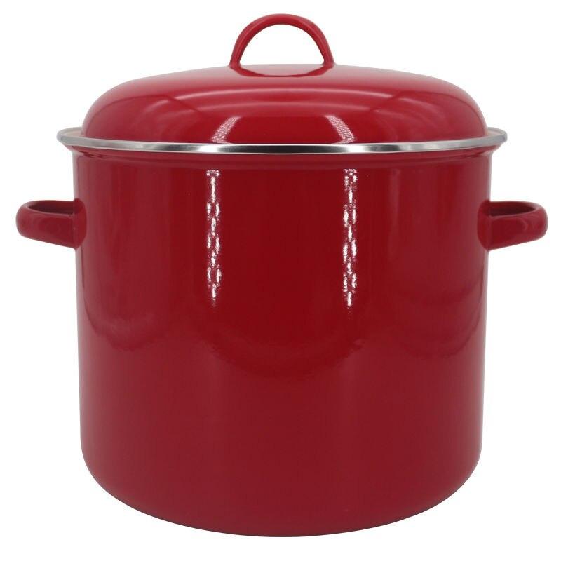 Soup Pot Milk Pot Enamel Pot 9.5L Thick Steamer Big Stew Pot Rice Barrel Pickle Pot Steamer Kitchen Pots And Pans Ceramic Kiithe