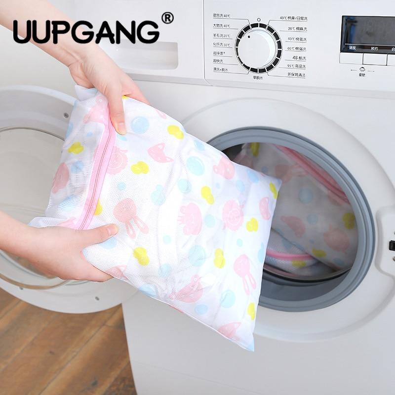 Zippered Lingerie Washing Bag Home Mesh Washing Machine Clothing Underwear Organizer Mesh Net Bra Socks Zipper Laundry Wash Bag