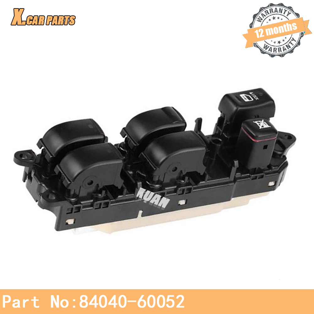 Commutateur de fenêtre électrique 8404060052 adapté pour Toyota Land Cruiser 120 Prado GRJ120 TRJ adapté pour Lexus Rx330 GX470 RX350 84040-60052