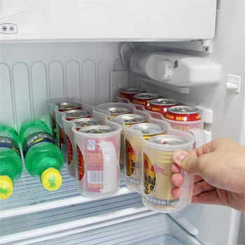 Home Kitchen Accessories Refrigerator Cola Beverage Can Space-saving Finishing storage box Four Case Kitchen Organizer