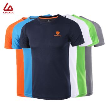 2020 Gym Shirt Men Short Sleeve Fitness Sportswear Dry Fit Breathable Clothing Casual Basketball Outdoor Running T Shirt Male