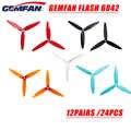 24 pièces/12 paires Gemfan Flash 6042 6x4.2x3 6 pouces 3-lame PC CW CCW hélice pour RC modèles Multicopter cadre ESC pièce de rechange Accs