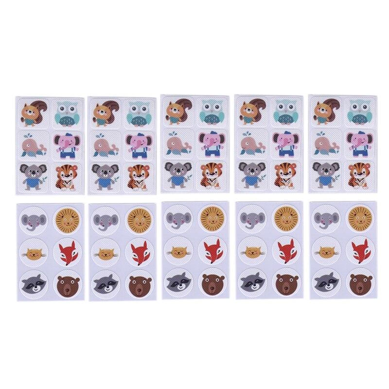 60 шт комаров патч квадратный мультфильм анти-москитный репеллент патч наклейки для детско-младенческий малышовый