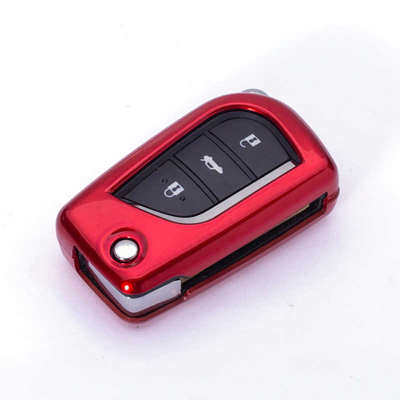 New ABS Car Filp Key Cover Case For Toyota Yaris Reiz Carola Rav4 Auris Corolla Avensis Verso Yaris Aygo Scion TC IM 2015 2016