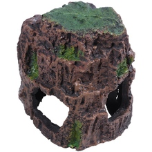 Aquarium Decoration Rock Cottage Cave Stone Hidden For Fish Tank