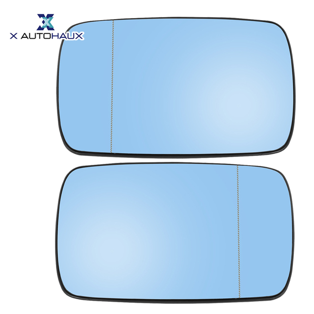 X Autohaux 1 Pair Side Mirror Glass with Backing Plate Heated for BMW E39 E46 320i 330i 325i 525i