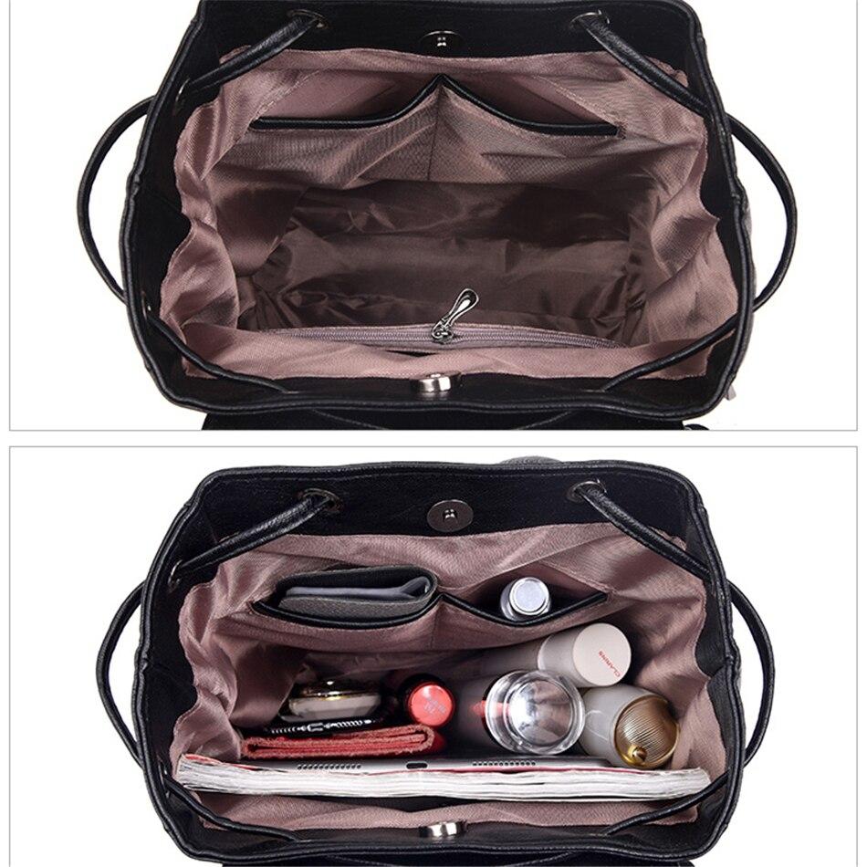 Image 5 - 2020 кожаные рюкзаки женские повседневные Рюкзаки Sac Dos Femme дорожный рюкзак школьные сумки для девочек подростков mochila femininaРюкзаки   -