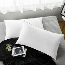Puredown Premium White Down Pillows for Sleeping with 100% Cotton Cover, 600 Fill Power, 1 pc