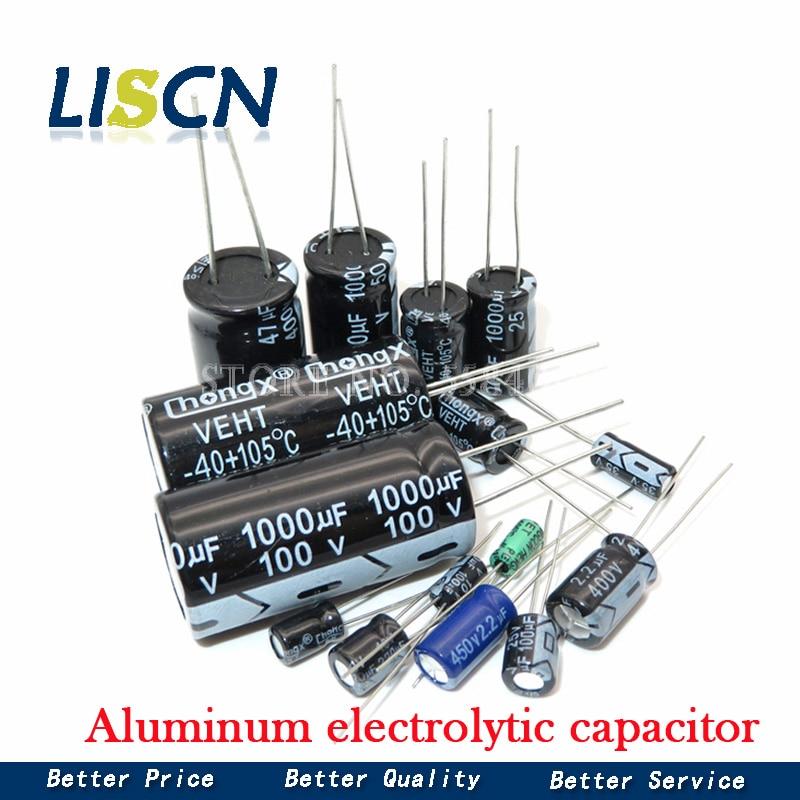 Алюминиевый электролитический конденсатор 35-470 мкФ Ф, 4 в 10 в 16 в 25 в 35 в 100 мкФ Ф 220 мкФ 330 мкФ 470 мкФ 680 мкФ 1000 мкФ 47 мкФ 1500 мкФ 10 мкФ Ф 22 мкФ, 20 шт.