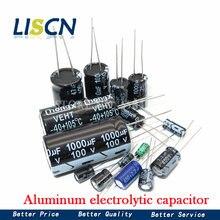 20 pces 35v-470uf alumínio capacitor eletrolítico 4v 10v 16v 25v 35v 100uf 220uf 330uf 470uf 680uf 1000uf 47uf 1500uf 10uf 22uf