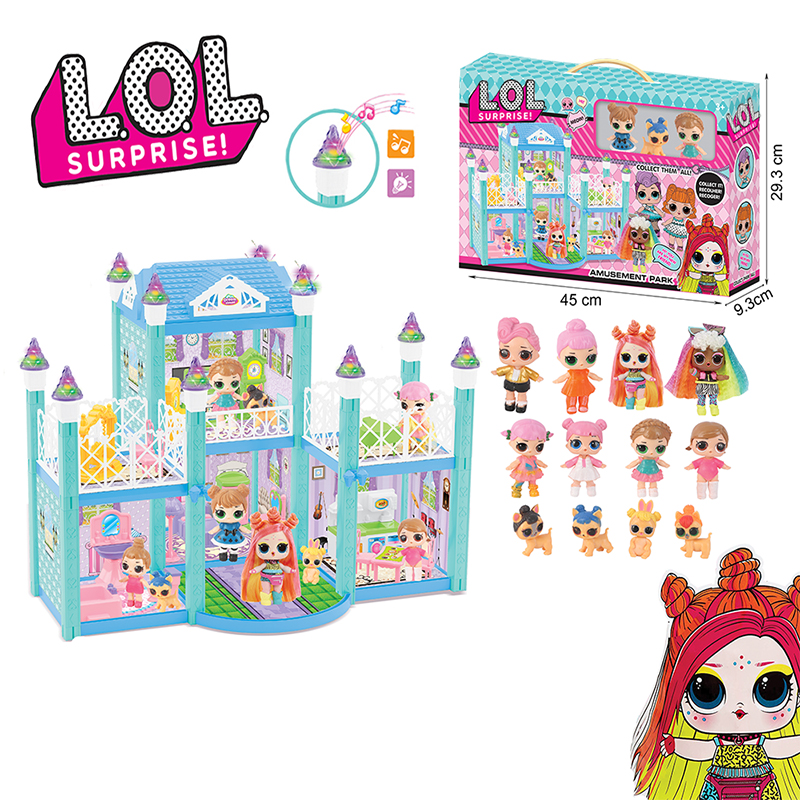 Original LOL Surprise Dolls DIY Play House Games Villa With 2 Random L.O.L SURPRISE Doll Toys For Girls Birthday Gifts 2S02