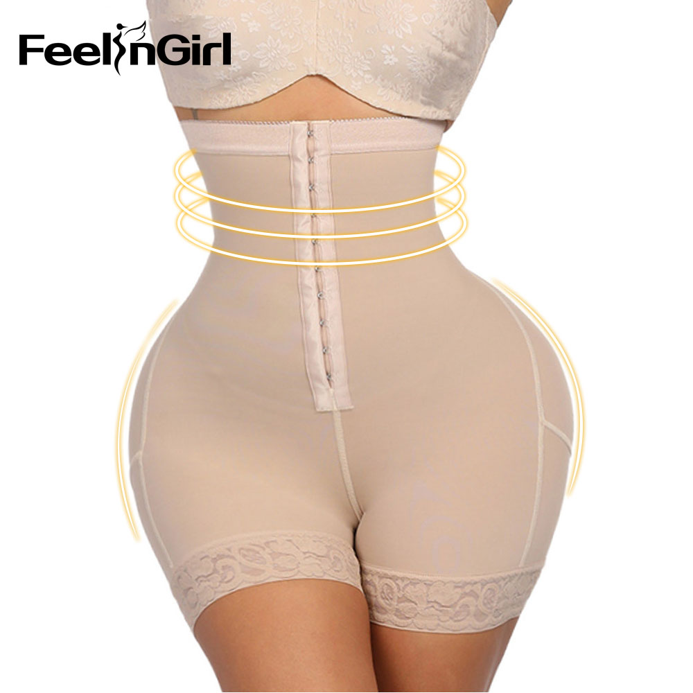FeelinGirl Women High Waist Control Panties Body Shaper Slimming Tummy Underwear Girdle Panty Shapers Butt Lifter Hip Enhancer