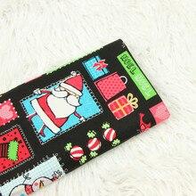 Cartoon Printed Cotton Plain Fabric For Christmas Santa Snowman DIY Sewing Breathable Pure Material