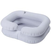 Shampoo Basin Tub for The Disabled Elderly Portable Hair Washing Basin Drain Tube Bed Rest Nursing Aid Sink