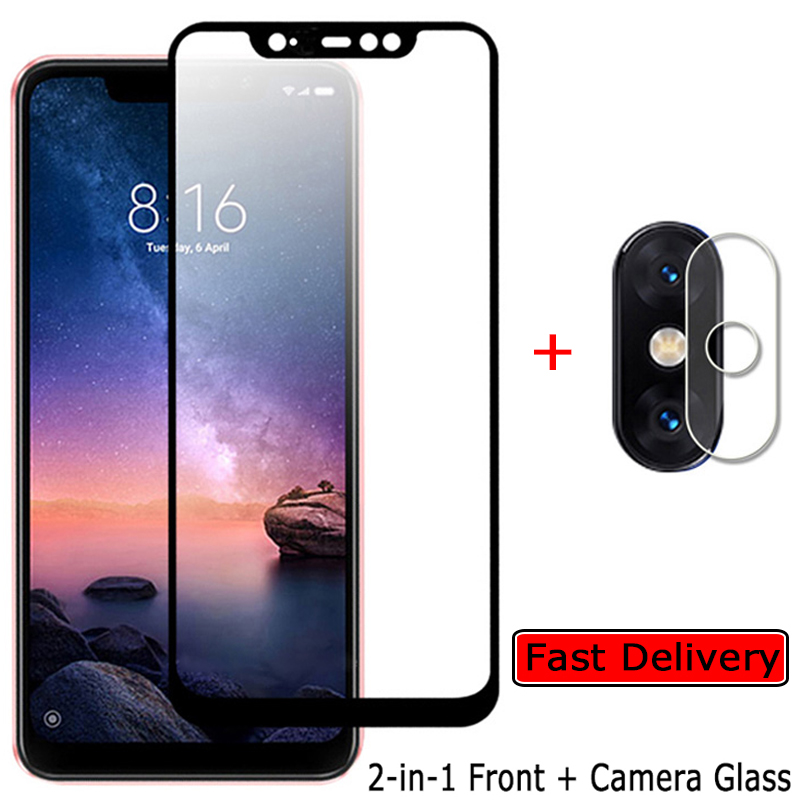 Front + Camera Glass For Redmi-Note-6-Pro Screen Protector Xiomi Redmi Note6 6Pro Tempered Glass Film Xiaomi Note 6 Pro Glass