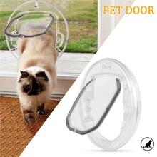 Окно Щенок Животное 4 Способа Блокировки вход с вкладышем отверстие поставки котенок Круглый прозрачный кот ворота маленькие собаки безопасности Pet дверь