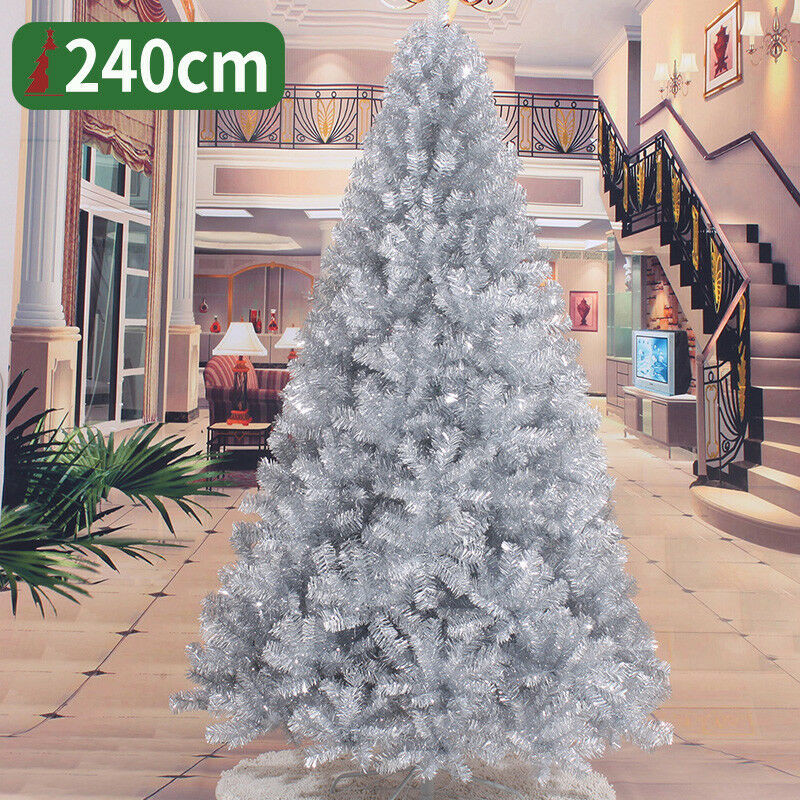 Silver Christmas Tree 2 3 4 5 6 7 8 FT Decoration Undercoated Festival Holiday