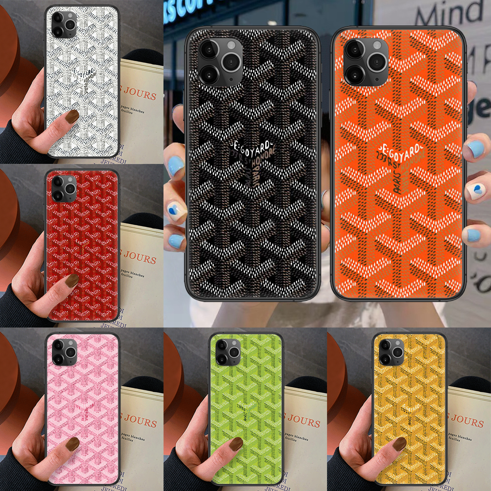 Goyard Design Colourful Phone Case For Iphone 4 4S 5 5S SE 5C 6 6S 7 8 Plus X XS XR 11 12 Mini Pro Max 2020 Black Waterproof