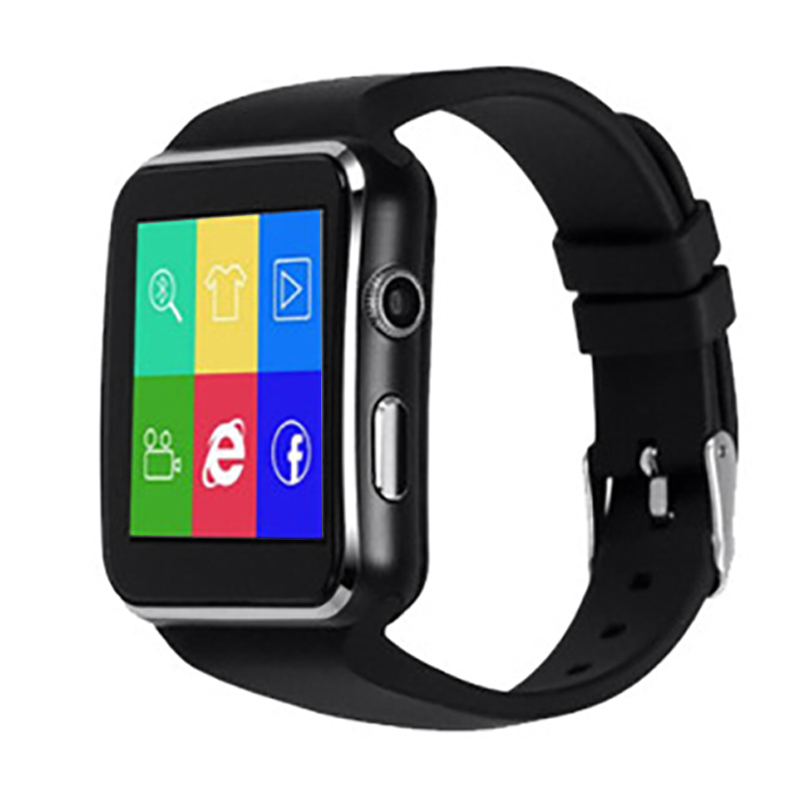 Hot 3C-Bluetooth Smart Watch <font><b>X6</b></font> Sport Passometer Smartwatch with Camera Support SIM Card Whatsapp Facebook for Android Phone image