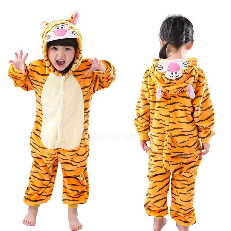 Unicorn Kigurumi Pigiama Per I Bambini Del Bambino dei Pigiami Delle Ragazze dei Ragazzi Degli Indumenti Da Notte Animale Stitch Pikachu Cat Tutina Bambini Costume Jumpsu