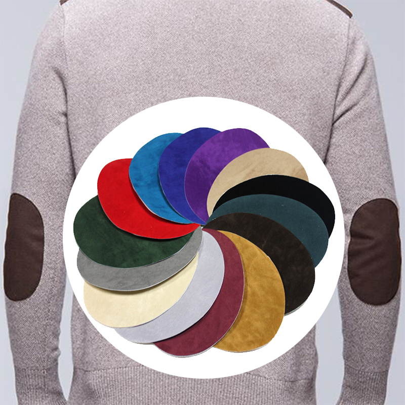 Patch de broderie Simple ovale | Autocollants transferts de chaleur sur vêtements de réparation cousus et genoux, Appliques décoratives
