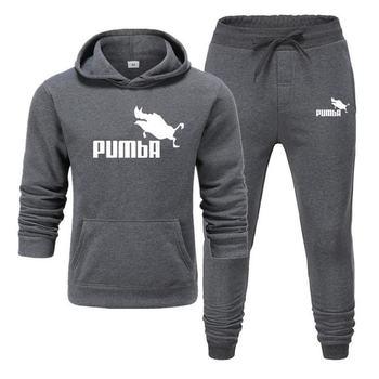 цена на New Pumba Two Pieces Hoodie Batman Hooded Men Casual Cotton Fall / Winter Warm Sweatshirts Men's Casual Tracksuit Costume S-XXXL
