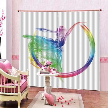 Beautiful Photo Fashion Customized 3D Curtains Color smoke Digital Print 3D Blackout Curtains For Living room