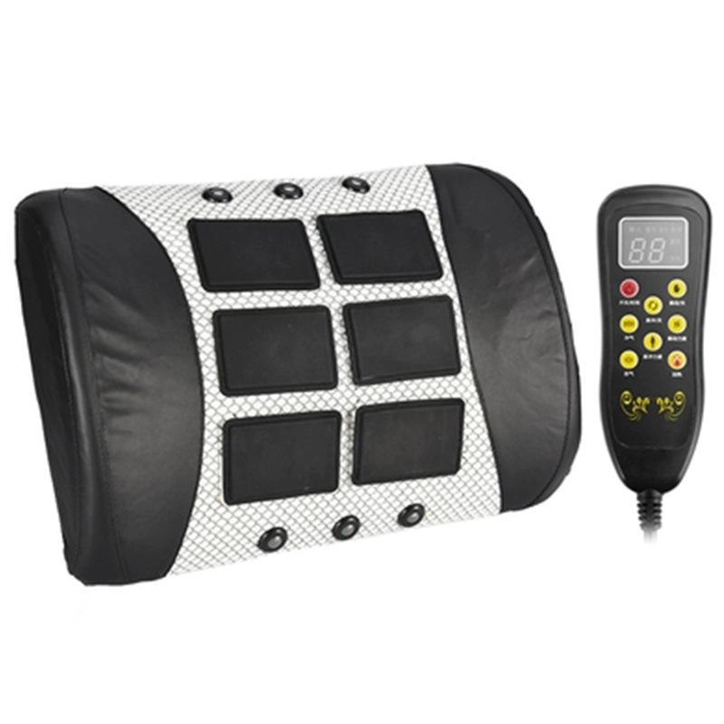 Traction Hot Compress Waist Pulse Massager Infrared Physiotherapy Treatment Curvature Spinal Cervical Pain Lumbar Muscle Injury