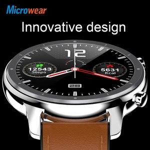 Image 5 - 2020 nova microfones l11 relógio inteligente tela de toque rastreador freqüência cardíaca ecg pressão arterial chamada lembrete bluetooth ip68 smartwatch