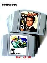 EUR PAL نسخة لعبة خرطوشة ل 64 بت لعبة فيديو وحدة التحكم الطين مقاتلة GoldenEye 007 بومبرمان الهجوم الثاني