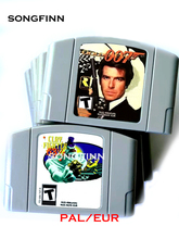 EUR PAL Version Game Cartridge for 64 Bit Video Game Console Clay Fighter GoldenEye 007 Bomberman The Second Attack