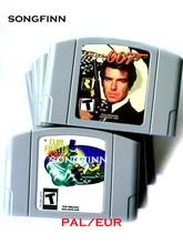 EUR PAL sürümü oyun kartuşu için 64 Bit video oyunu konsolu kil Fighter GoldenEye 007 Bomberman İkinci saldırı