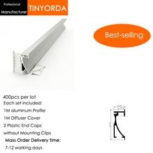 цена на Tinyorda 400Pcs (1M Length) Led Alu Profile  Led Channel Profil for 14mm LED Strip Light 1M LED Profile Alu Profile channel