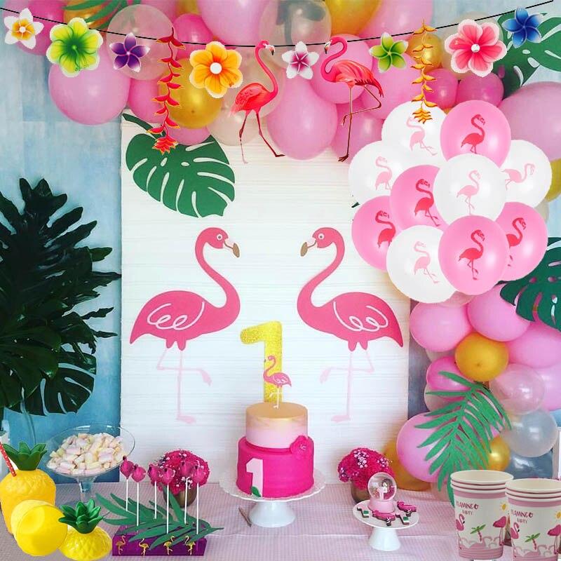 Joy-Enlife, globo con diseño de Flamenco de 12 pulgadas, decoración para fiesta tropical de verano, suministros para fiestas de flamencos, decoración Hawaiana para fiestas de cumpleaños Nuevo letrero de neón, lámpara LED de noche, lámpara de mesa con flamenco, nube, arcoiris, piña, decoración para fiesta de Navidad, decoración en 3D para el hogar