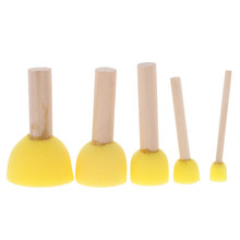 5Pcs Sponge Stamper Water Watercolor Oil Gouache Acrylic Paint Brushes(China)