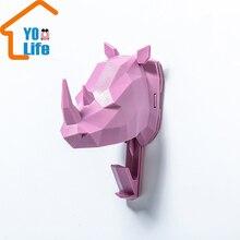 Голова носорога голова оленя голова слона свободное отверстие крюк INS Авангард современный стиль украшения фото Хорошее качество холодный стиль крюк