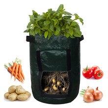 Potato Cultivation Planting Woven Fabric Bags Garden Pots Planters Vegetable Planting Bags Grow Bag Farm Home Garden Tool